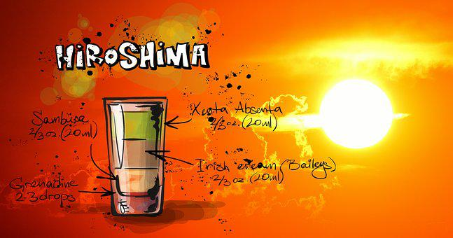 Hiroshima, Cocktail, Drink, Sunset, Alcohol, Recipe