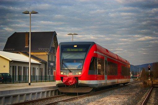 Train, Railway Station, Platform, Deutsche Bahn