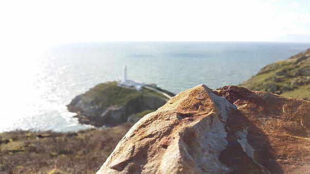 South Stack, Sea, Focus, Rock, Lighthouse