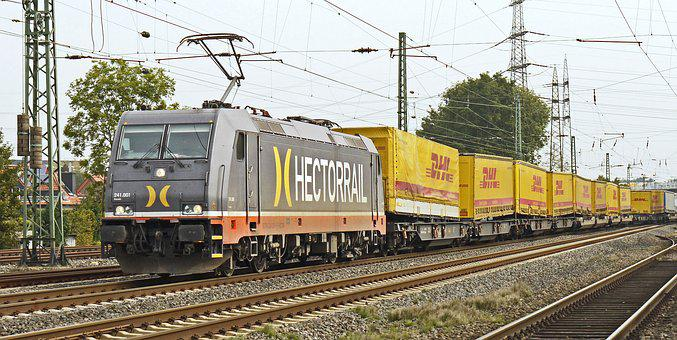 Paketzug, Freight Train, Electric Locomotive