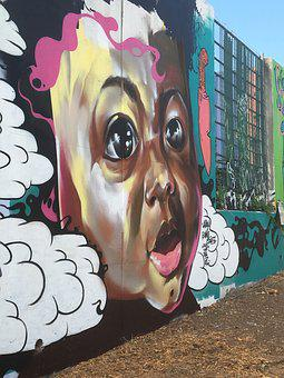 Mural, Atlanta, Little Five Points, Grafitti