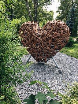 Heart, Love, Park, Summer, Autumn, City Park, Hearts