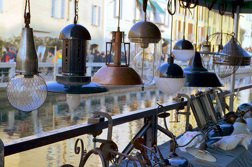 Lamps, Light Bulbs, Chandeliers, The Naviglio Grande