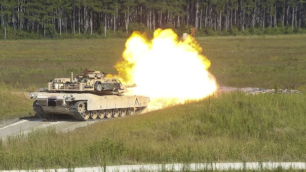 M1a1 Abrams, Military, Army, Firepower, Fire, Live-fire