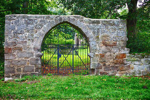 Monastery, Old, Remains Of A Wall, Middle Ages, Input