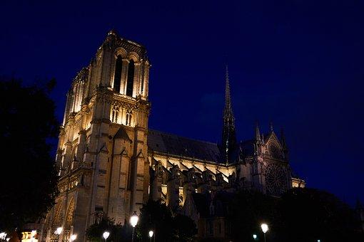Paris, France, Notre Dame, Landmark, Places Of Interest