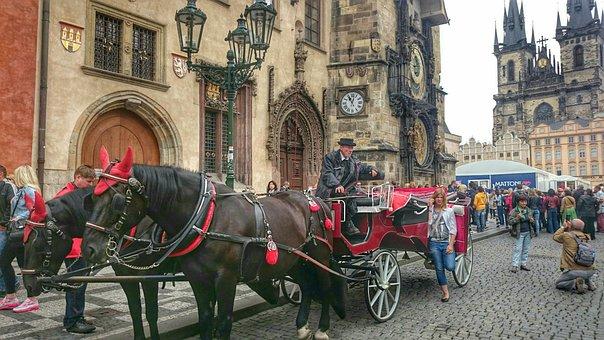 Cab, Monument, Tour, Prague, Old, City