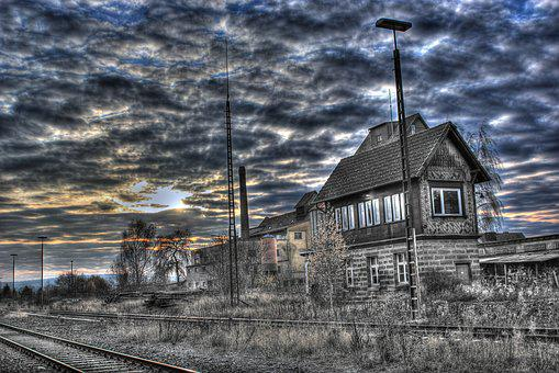 Signal Box, Old, Railway Station, Old Signal Box