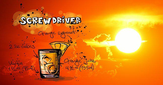 Screwdriver, Cocktail, Drink, Sunset, Alcohol, Recipe