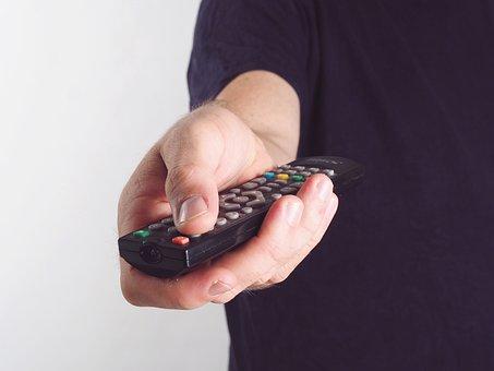 Hand, Remote Bediehnung, Tv, Screen, Monitor