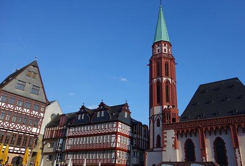 Frankfurt, Romans, Römerberg, Old Town, Hesse