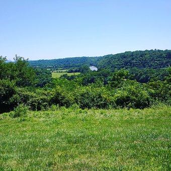Kentucky, Kentucky River, Hilltop, River, Sky, Trees