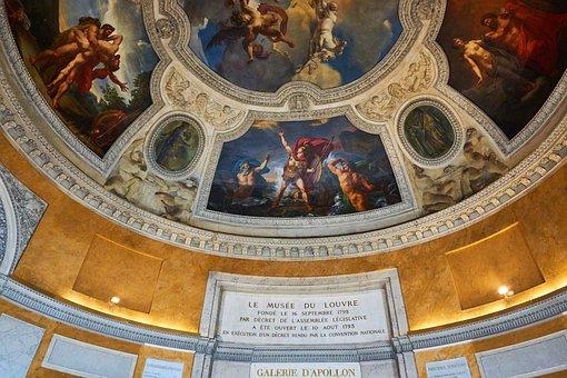 Louvre, Paris, Statue, Museum, France, Art, Painting