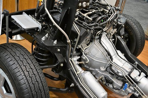 Car Engine, Motor, Wires, Suspension, Electronic, Tires