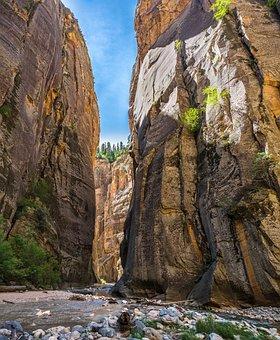 Zion, Narrows, Canyon, Slot, Nature, River, Water, Park
