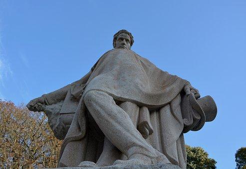 Statue, Sculpture Stone, Writer Chateaubriand