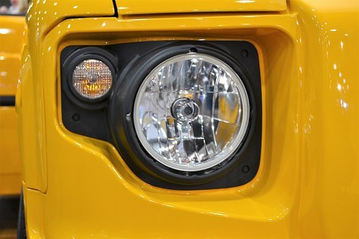 Suv Headlamp, Headlight, Yellow Jeep