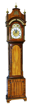 Grandfather Clock, Clock, Zimmeruhr, Antique