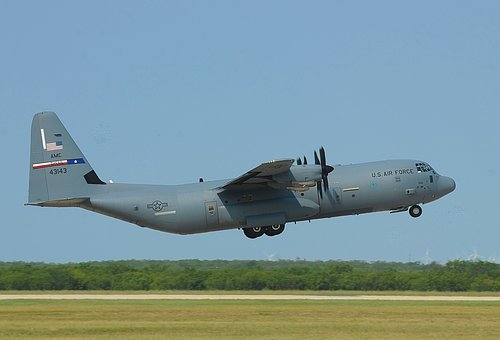 C-130j Super Hercules, Air Force, Cargo, Plane