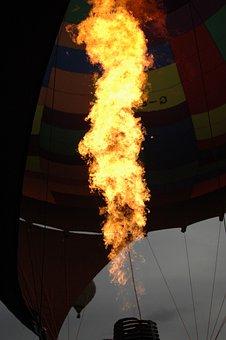 Balloon, Flame, Dusk, Fire, Hot, Air, Burning