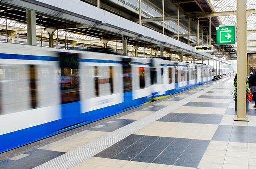 Metro, Train, Commute, Transport, Station, Subway