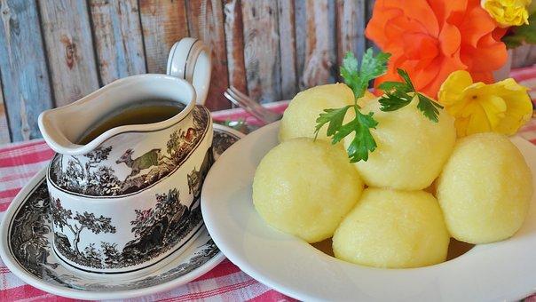 Dumpling, Potato Dumplings, Sauce, Kitchen, Cook, Tasty