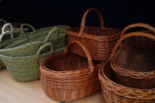 Crafts, Baskets, Esparto, Wicker, Rustic