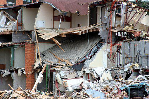 Demolition, Destruction, Demolish, Damage, Debris