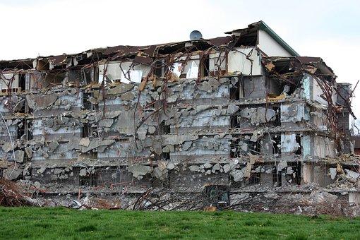 Demolition, Destruction, Building, Damage, Structure