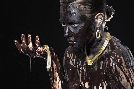 Black, Chocolate, Paint, Painting, Fiction, Woman