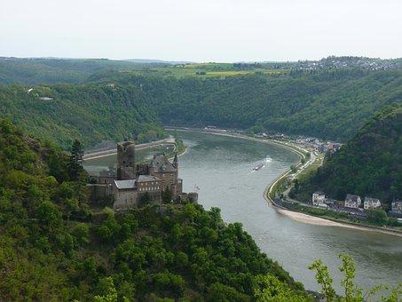 Castle, Katz, Saint, Goarshausen, Loreley, Rhine