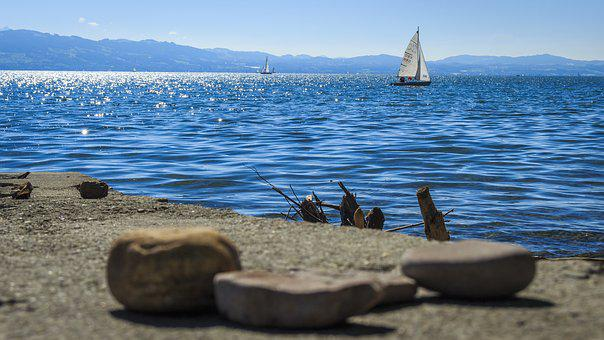 Lake Constance, Sail, On The Water, Old Town Historical