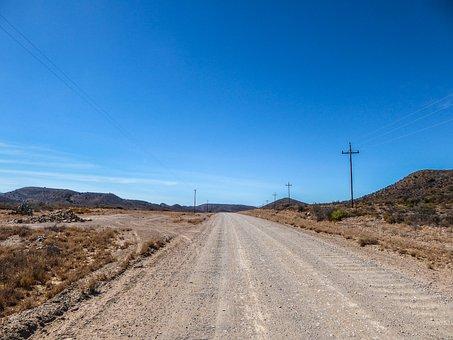 Africa, Road Trip, Loneliness, Strommast, Road, Horizon