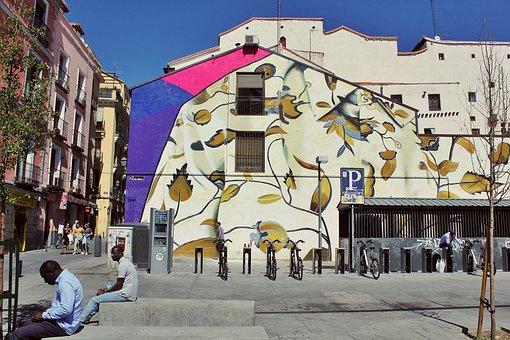 Street Art, Mural, Graffiti, Wall, Painted Wall, Spain