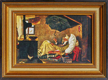 Painting, Reprint, Frame, Poet, The Poor Poet, Spitzweg