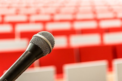 Microphone, It, Lecture, Entry, Sound, Question, Room
