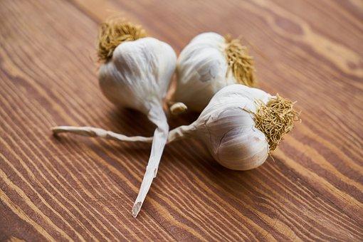 Garlic, Scented, Vegetable, White, Food, Kitchen