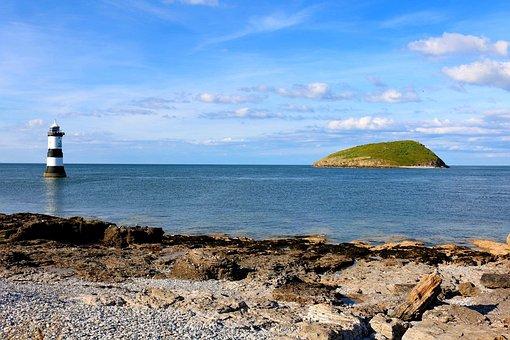 Penmon, Beach, Point, Lighthouse, Penmon Point