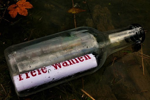 Message In A Bottle, Message, Bottle