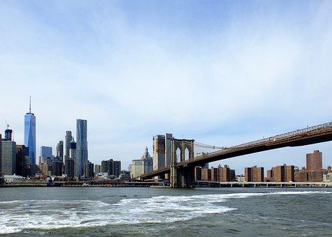 Brooklyn Bridge, Nyc, New York, Bridge, Usa, Manhattan
