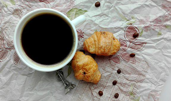 Coffee, Croissant, Dessert, Food, Drinks, French