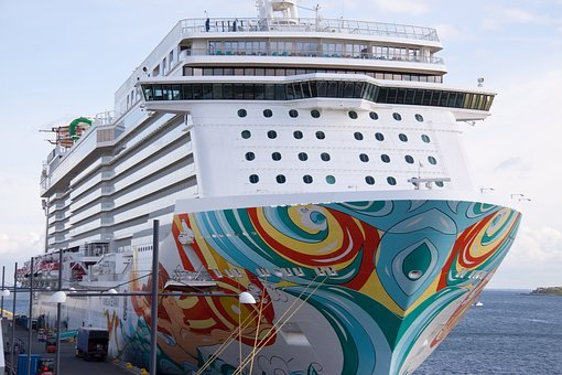 Cruise Ship, Offset, Colorful, Berth, Pattern