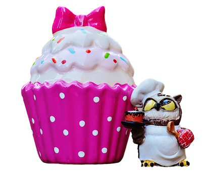 Baker, Cooking, Coffee, Cupcake, Owl, Cake