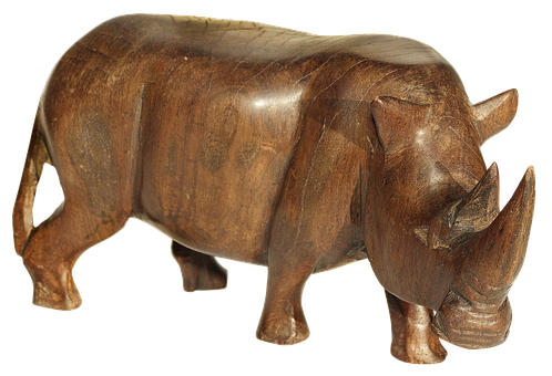 Figure, Holzfigur, Rhino, Animal Figure, Wood Carving
