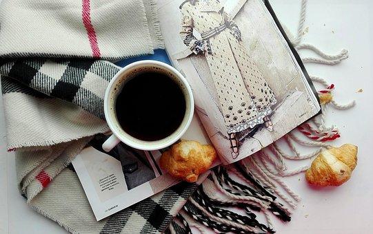 Coffee, Croissant, Dessert, Food, Drinks, Magazine