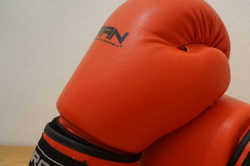 Gloves, Box, Fight, Red, The Quality Of The, Detail