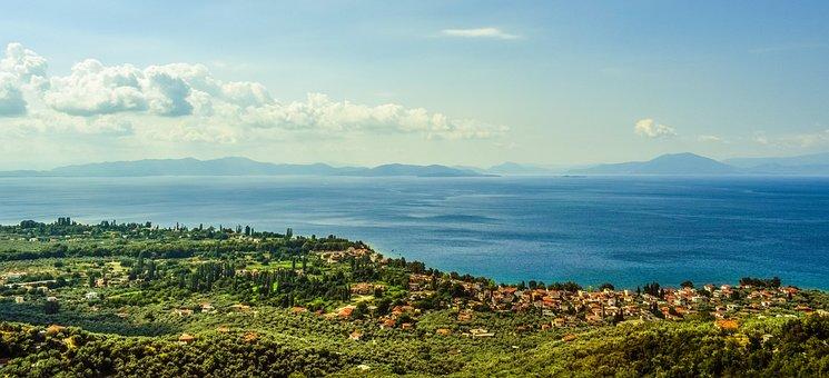 Greece, Pelio, Pagasitikos Gulf, Village, Landscape