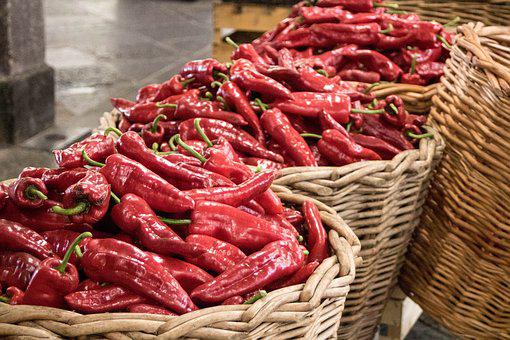 Comanche, Vegetables, Peppers, Spicy, Horta, Market