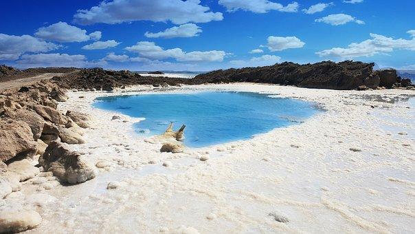 Israel, Dead, Sea, Nature, Water, Blue, Sky, Salt
