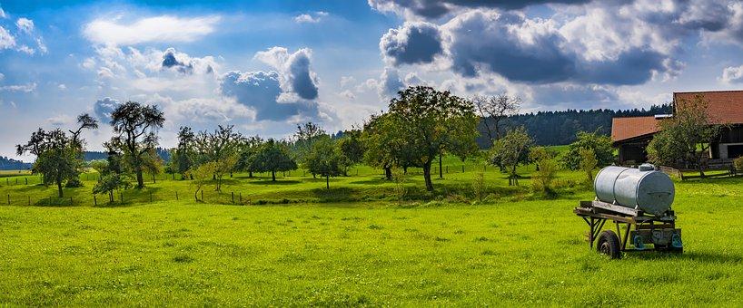 Bavaria, Agricultural, Agriculture, Landscape, Nature